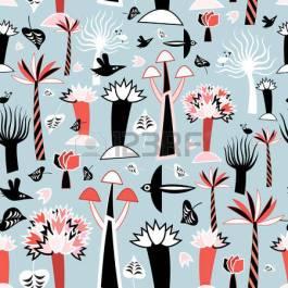 27460989-luminoso-grafico-seamless-di-alberi-fantastici-e-uccelli