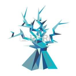 82284424-illustrazione-di-albero-fantastico-stile-poligonale-serie-di-creature-ghiacciate-può-essere-utilizzato-