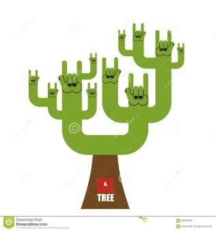 albero-di-rock-roll-albero-fantastico-dal-segno-della-mano-della-roccia-pianta-fo-60655663
