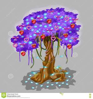 albero-fantastico-con-il-giocattolo-del-cuore-e-della-fragola-80976554