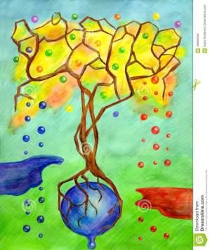 l-albero-fantastico-sta-su-una-goccia-di-piccoli-gocce-e-surrealismr-dei-laghi-volo-108802292